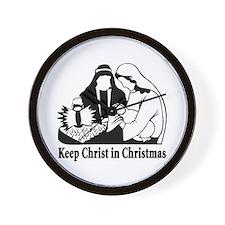 Keep Christ in Christmas Wall Clock