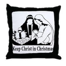 Keep Christ in Christmas Throw Pillow