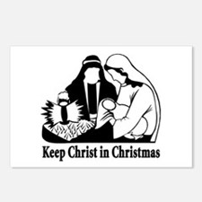 Keep Christ in Christmas Postcards (Package of 8)