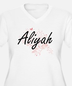 Aliyah Artistic Name Design with Plus Size T-Shirt
