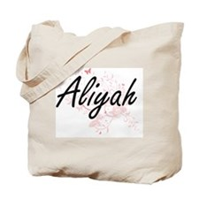 Aliyah Artistic Name Design with Butterfl Tote Bag