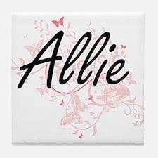Allie Artistic Name Design with Butte Tile Coaster
