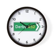 Derby Roadmarker, UK Wall Clock