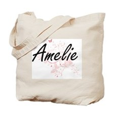 Amelie Artistic Name Design with Butterfl Tote Bag