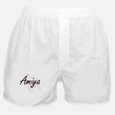 Amiya Artistic Name Design with Butte Boxer Shorts
