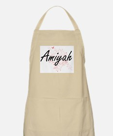 Amiyah Artistic Name Design with Butterflies Apron