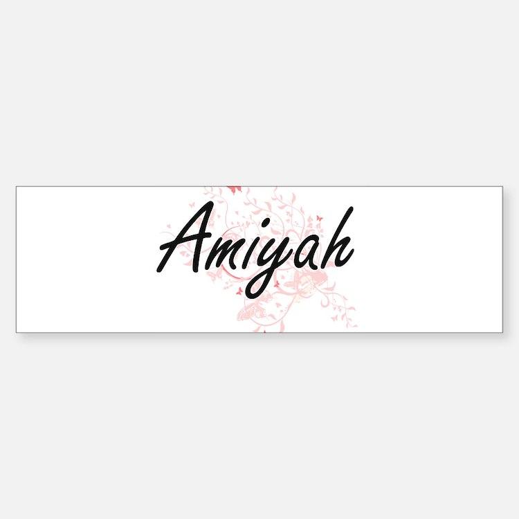 Amiyah Artistic Name Design with Bu Bumper Bumper Bumper Sticker