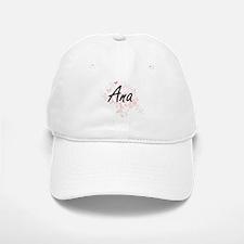 Ana Artistic Name Design with Butterflies Baseball Baseball Cap