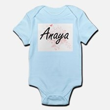 Anaya Artistic Name Design with Butterfl Body Suit