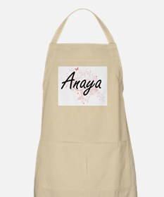 Anaya Artistic Name Design with Butterflies Apron