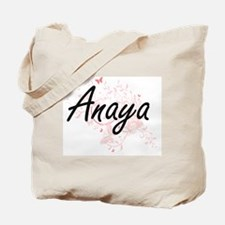 Anaya Artistic Name Design with Butterfli Tote Bag