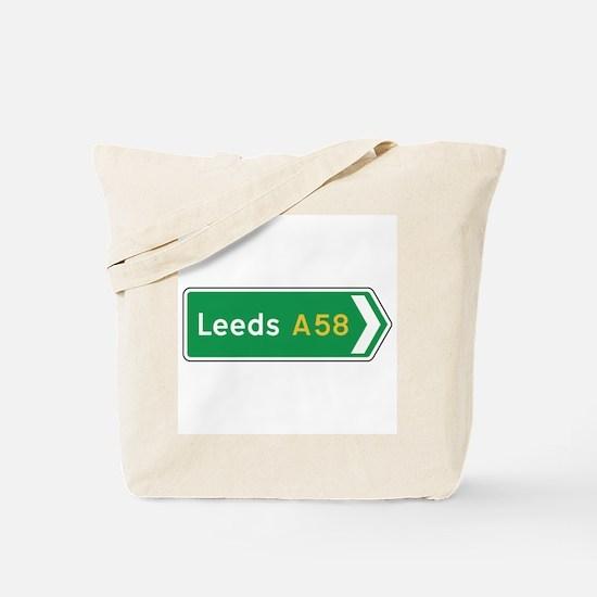 Leeds Roadmarker, UK Tote Bag