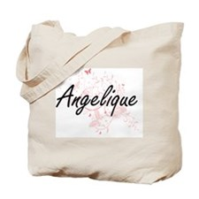 Angelique Artistic Name Design with Butte Tote Bag