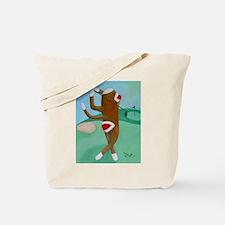 Golf Sock Monkey Tote Bag