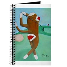 Golf Sock Monkey Journal