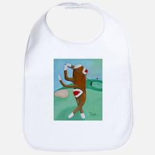 Golf Sock Monkey Bib