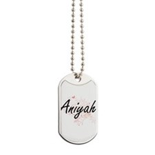 Aniyah Artistic Name Design with Butterfl Dog Tags