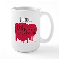 I Drool Red and Black Mug