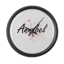 Annabel Artistic Name Design with Large Wall Clock