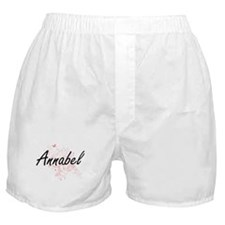 Annabel Artistic Name Design with But Boxer Shorts