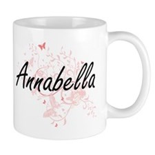 Annabella Artistic Name Design with Butterfli Mugs