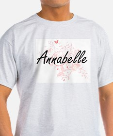 Annabelle Artistic Name Design with Butter T-Shirt