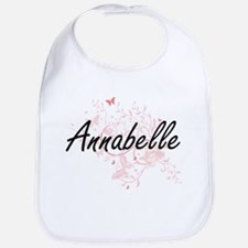 Annabelle Artistic Name Design with Butterflie Bib