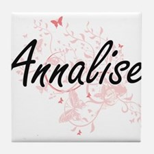 Annalise Artistic Name Design with Bu Tile Coaster
