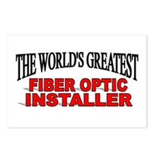 """The World's Greatest Fiber Optic Installer"" Postc"