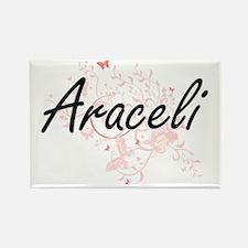 Araceli Artistic Name Design with Butterfl Magnets