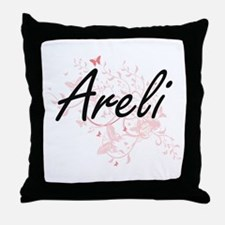 Areli Artistic Name Design with Butte Throw Pillow