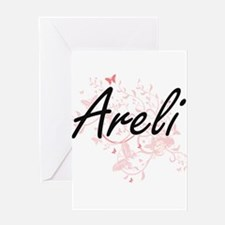 Areli Artistic Name Design with But Greeting Cards
