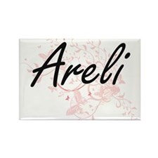 Areli Artistic Name Design with Butterflie Magnets