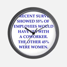 men are pigs Wall Clock