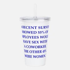 men are pigs Acrylic Double-wall Tumbler