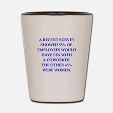 men are pigs Shot Glass