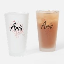 Aria Artistic Name Design with Butt Drinking Glass