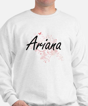 Ariana Artistic Name Design with Butter Jumper