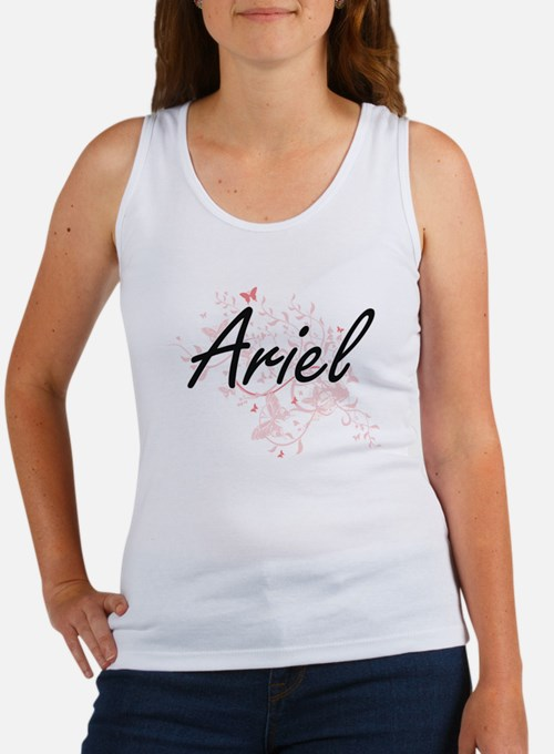 Ariel Artistic Name Design with Butterfli Tank Top