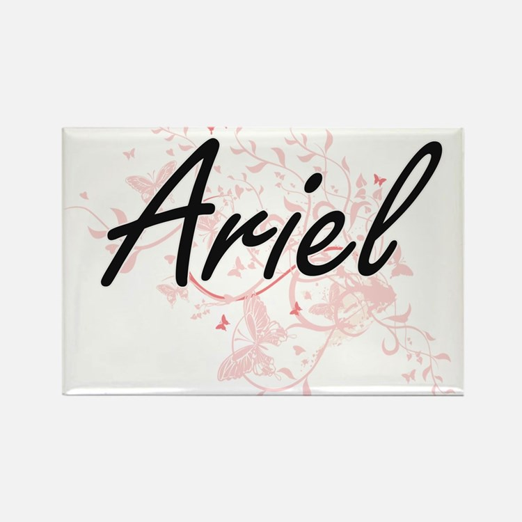 Ariel Artistic Name Design with Butterflie Magnets