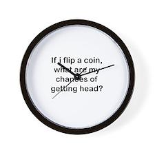Chances of getting head Wall Clock