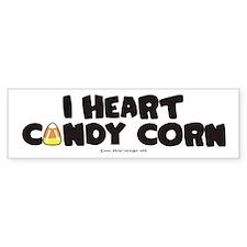 I Heart Candy Corn Halloween Bumper Bumper Sticker