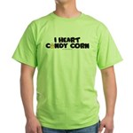 I Heart Candy Corn Halloween Green T-Shirt