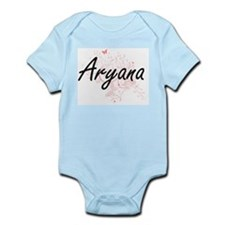 Aryana Artistic Name Design with Butterf Body Suit