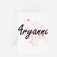 Aryanna Artistic Name Design with B Greeting Cards