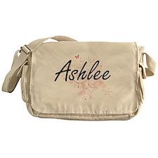 Ashlee Artistic Name Design with But Messenger Bag