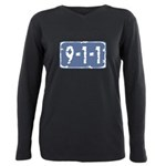 Porno_911_sign.png Plus Size Long Sleeve Tee