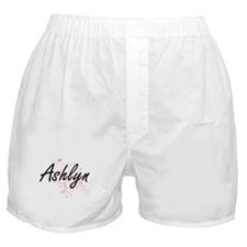 Ashlyn Artistic Name Design with Butt Boxer Shorts