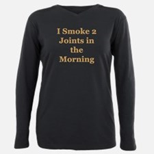 I smoke 2 joints in the morning Plus Size Long Sle