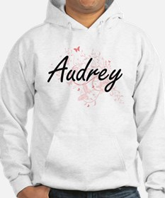 Audrey Artistic Name Design with Hoodie Sweatshirt